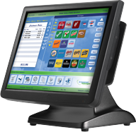 Restaurant Point-Of-Sale (POS) monitor with credit card swipe